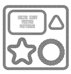 celtic knot patterns vector image