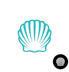 Seashell logo scallop seashell elegant symbol sea vector