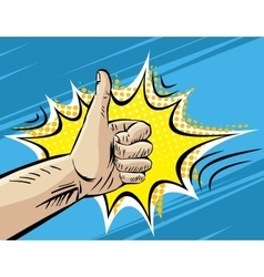 Like Well Fine Hitchhiking journey Gesture Pop vector image