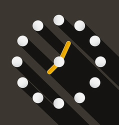 Abstract Paper Circle Clock Face on Dark Bac vector image vector image