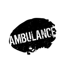 Ambulance rubber stamp vector