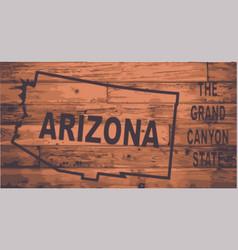 Arizona map brand vector