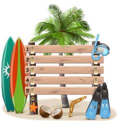 Beach Rating Scoreboard vector image vector image