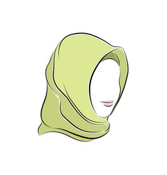 beautiful muslim woman in hijab on her head vector image vector image