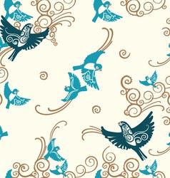 Birds seamless pattern vector