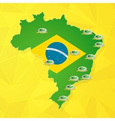 Brazil soccer championship stadiums vector image vector image