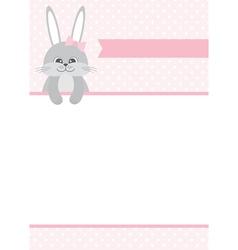 Bunny Card vector image vector image