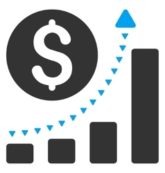 Business Bar Chart Positive Trend Flat vector image vector image