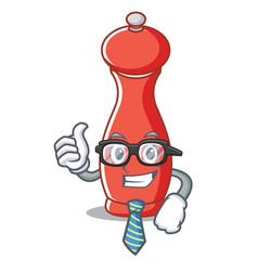 Businessman pepper mill character cartoon vector