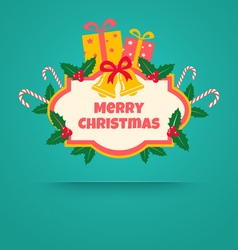 christmas banner with bells vector image