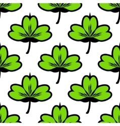 Clover leaf seamless pattern vector image vector image
