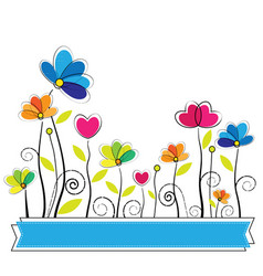 Cute flower vector