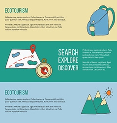 Ecotourism flyer poster vector