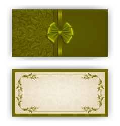 Elegant template for luxury invitation vector image vector image