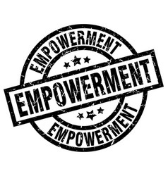 Empowerment round grunge black stamp vector