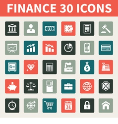 Finance and Business 30 Icons vector image vector image