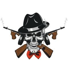 Gangster skull mafia vector