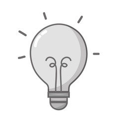grayscale light bulb energy object icon vector image