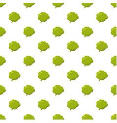 Green speech bubble pattern vector
