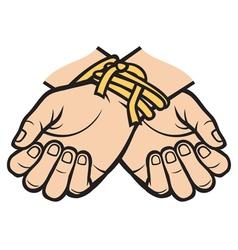hands tied vector image