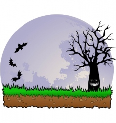 haunted forest vector image
