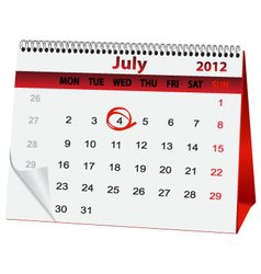 holiday calendar for 4 July vector image