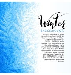 Ice winter background vector
