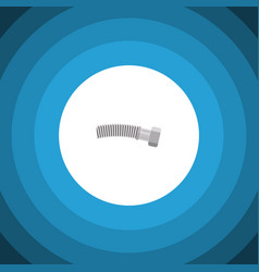 Isolated coiled wire flat icon corrugated pipe vector