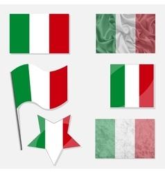 Italian Flag Set vector image vector image