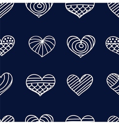 lace heart dark vector image vector image