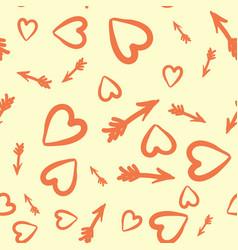 Love concept heart and arrows seamless tile vector