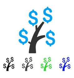 Money tree flat icon vector