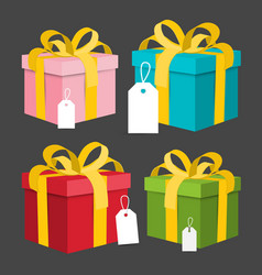 paper gift boxes set present box vector image vector image
