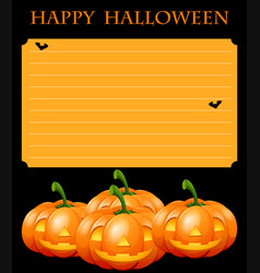 Paper template with halloween theme vector