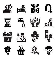 Passive income icon vector