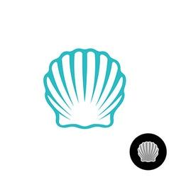 Seashell logo scallop seashell elegant symbol sea vector