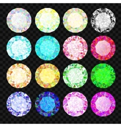 Set of gems Diamond set vector image