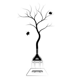 sign or logo on ecology and forest conservation vector image