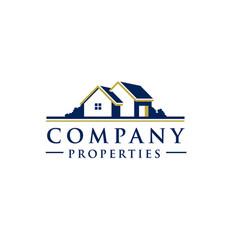 village house logo vector image vector image