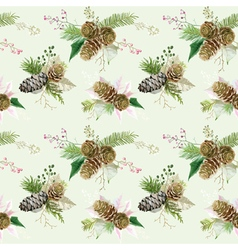 Vintage christmas background - seamless pattern vector