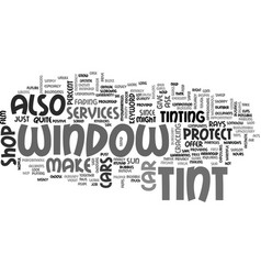 Window tint for cars text word cloud concept vector