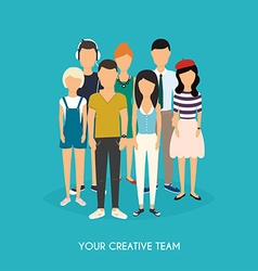 Your creative team business team teamwork social vector