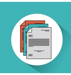 Document file paper text icon vector
