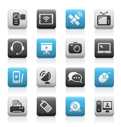Communications icons matte series vector
