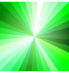 Green light ray abstract background vector
