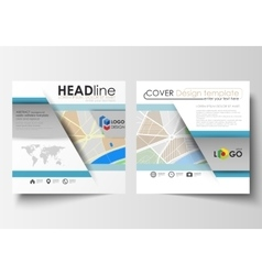 Business templates for square brochure magazine vector