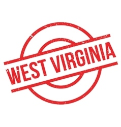 West Virginia rubber stamp vector image