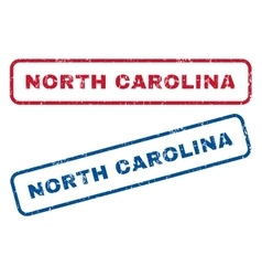North carolina rubber stamps vector