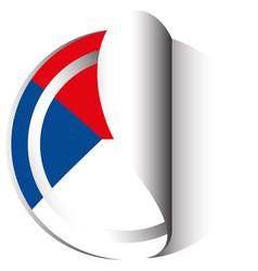 Czech republic flag in sticker design vector