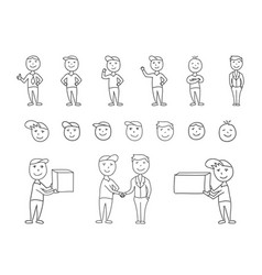 Big set of hand-drawn people characters vector